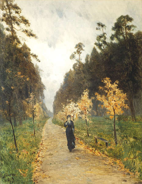 Isaak Iljitsch Lewitan, Herbsttag. Sokolniki, 1879, Öl/Lw, 64.3 х 51 cm (Tretjakow-Galerie, Moskau)