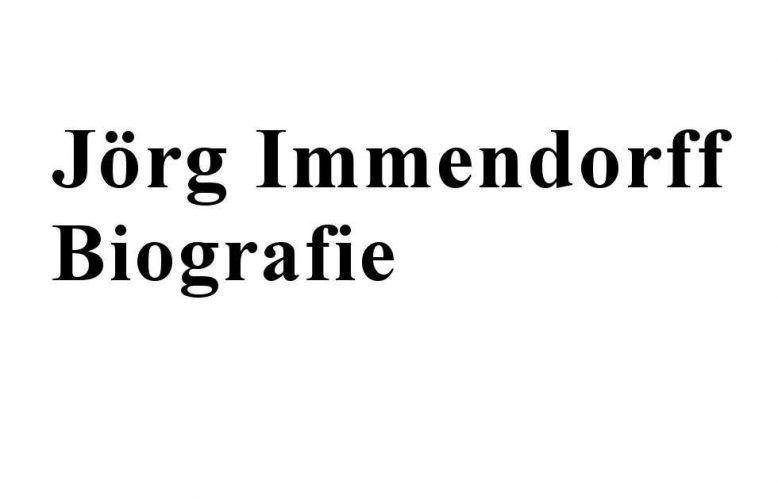 Jörg Immendorff, Biografie