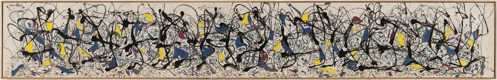 Jackson Pollock, Summertime Number 9A, 1948, Öl, Emailfarbe, Wandfarbe/Lw, 84,8 x 555 cm (Tate Modern, London)