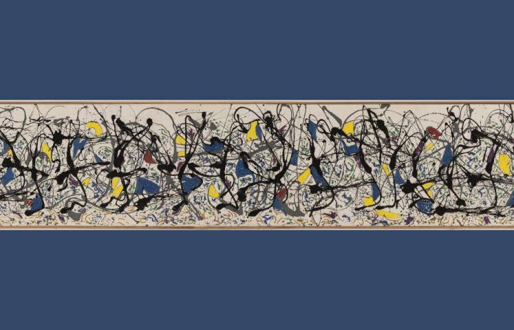 Jackson Pollock, Summertime Number 9A, Detail, 1948, Öl, Emailfarbe, Wandfarbe/Lw, 84,8 x 555 cm (Tate Modern, London)