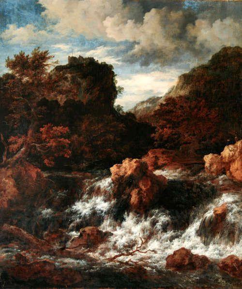 Jacob Isaaksz. van Ruisdael, Wasserfall mit Bergschloss, o. J. (Herzog Anton Ulrich-Museum, Braunschweig © Herzog Anton Ulrich-Museum, Braunschweig)