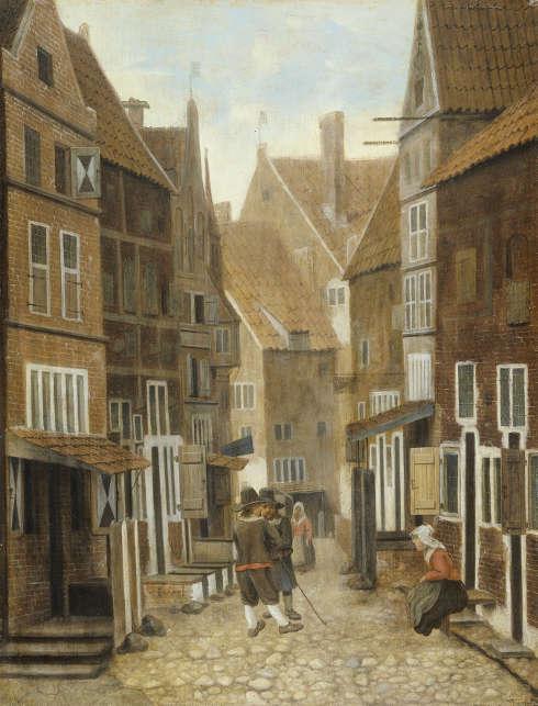 Jacobus Vrel, Stadtansicht, Öl/Holz, 36 x 27,5 cm (Rijksmuseum, Amsterdam)
