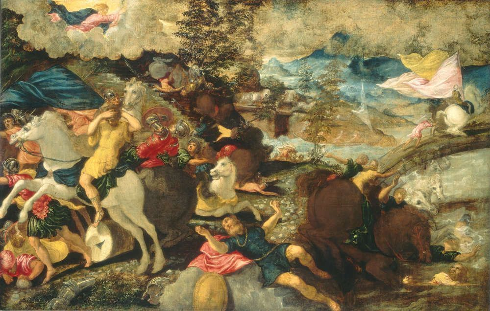 Jacopo Tintoretto, Die Bekehrung des Saulus, 1538/39, Öl auf Leinwand, 152 x 236 cm (National Gallery of Art, Samuel H. Kress Collection, Washington, Foto: © National Gallery of Art, Washington)