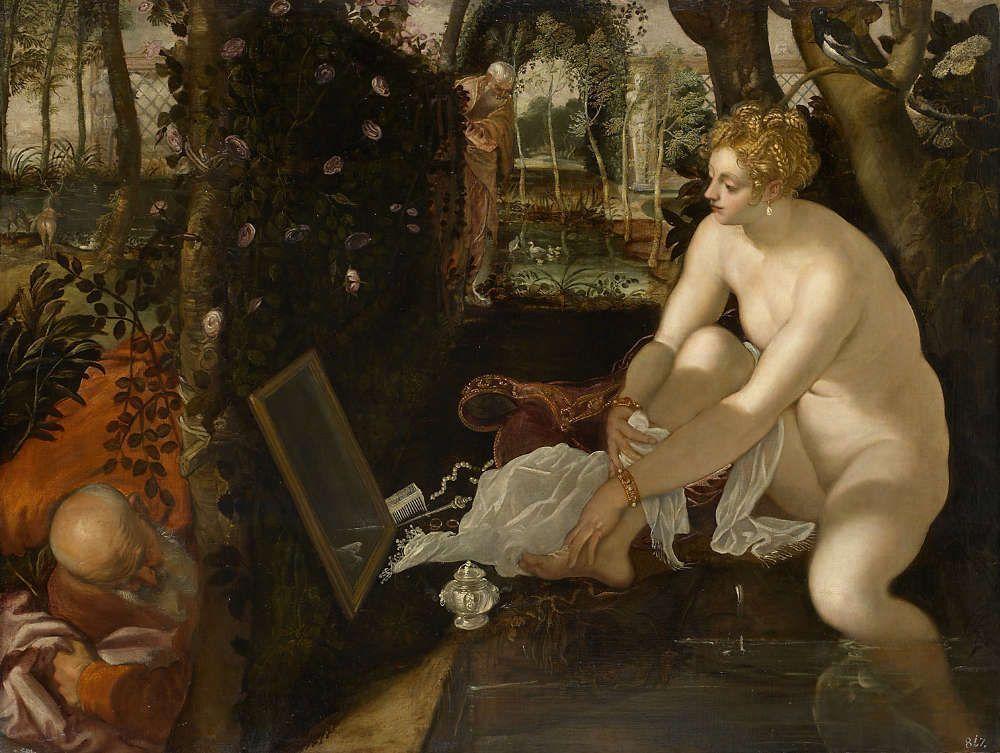 Jacopo Tintoretto Susanna im Bade, um 1555/1556, ÖlLw, 146 x 193,6 cm (Kunsthistorisches Museum Wien, Inv.-Nr. GG 1530)