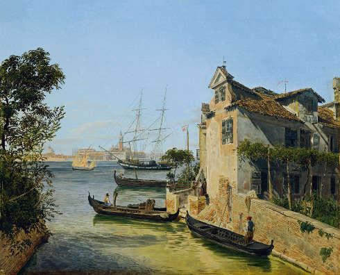 Jakob Alt, Blick auf San Giorgio Maggiore in Venedig, 1834 (Belvedere, Wien)