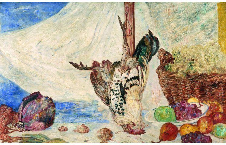 James Ensor, Der tote Hahn, 1894 (Kunsthalle Mannheim)