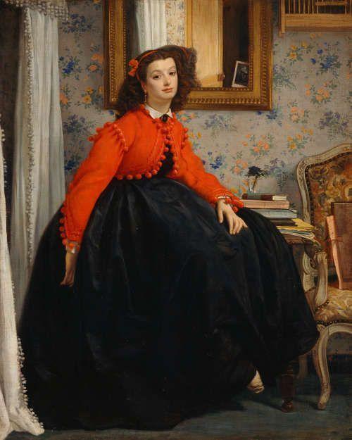 James Tissot, Portrait de Mademoiselle L.L., 1864, Öl/Lw, 123,5 x 99 cm (Musée d'Orsay, Paris)