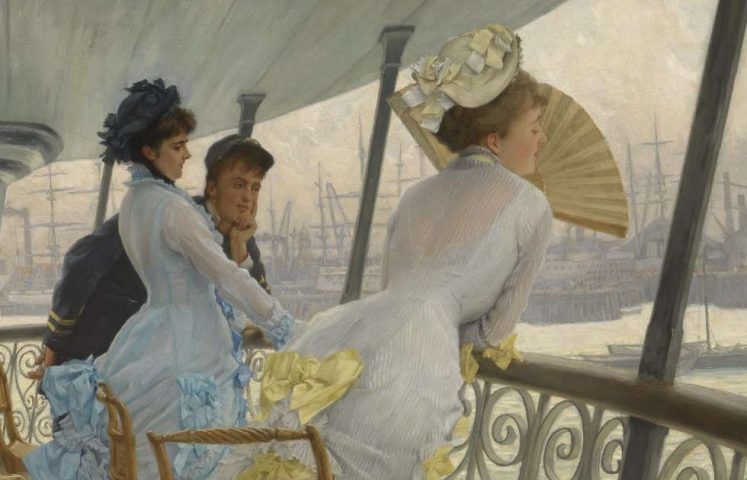 James Tissot, The Gallery of HMS Calcutta (Portsmouth), Detail, um 1876, Öl/Lw, 68,6 × 91,8 cm (© Tate, London)