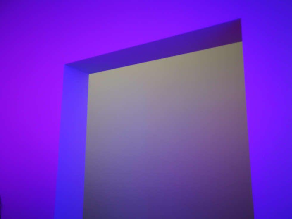 James Turrell, Dasube (Dual Shallow Space Construction), Detail, 2011, Installation (Privatsammlung, Foto: Alexandra Matzner, ARTinWORDS)