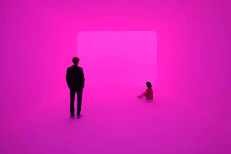 James Turrell, Ganzfeld APANI (Venice Biennial 2011), 2011, Installation, LED, 16 x 12 x 6 m (Foto: Florian Holzherr, Courtesy Häusler Contemporary München | Zürich)