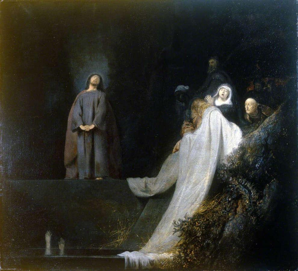 Jan Lievens, Auferweckung des Lazarus (Brighton City Art Gallery)