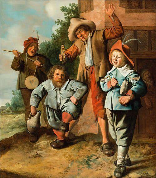 Jan Miense Molenaer Jugendliche Musikanten und ein tanzender Zwerg, um 1630–1635 (SØR Rusche Sammlung Oelde / Berlin)