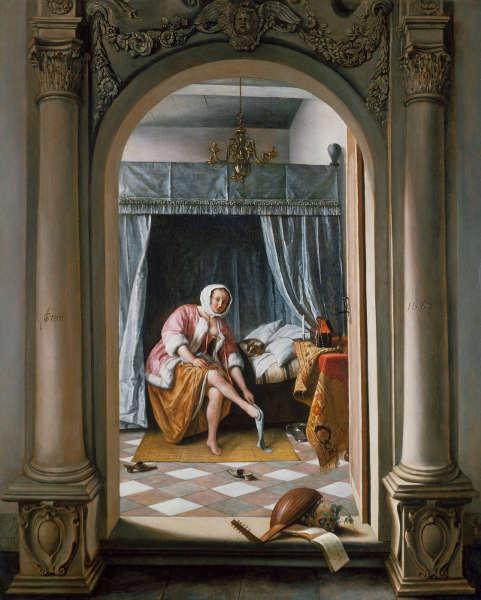 Jan Steen, Frau bei der Toilette, 1663 (Royal Collection Trust / (c) Her Majesty Queen Elizabeth II 2019)