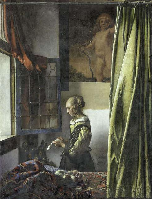 Jan Vermeer, Die Briefleserin (am offenen Fenster) während der Restaurierung am 16. Januar 2020, um 1657/59, Öl/Lw, 83 x 64,5 cm (Dresden, Gemäldegalerie Alte Meister – Staatliche Kunstsammlungen)