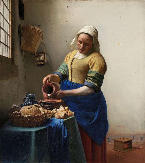 Jan Vermeer, Die Milchmagd, um 1660, Öl/Lw, 45,5 x 41 cm (Rijksmuseum, Amsterdam)