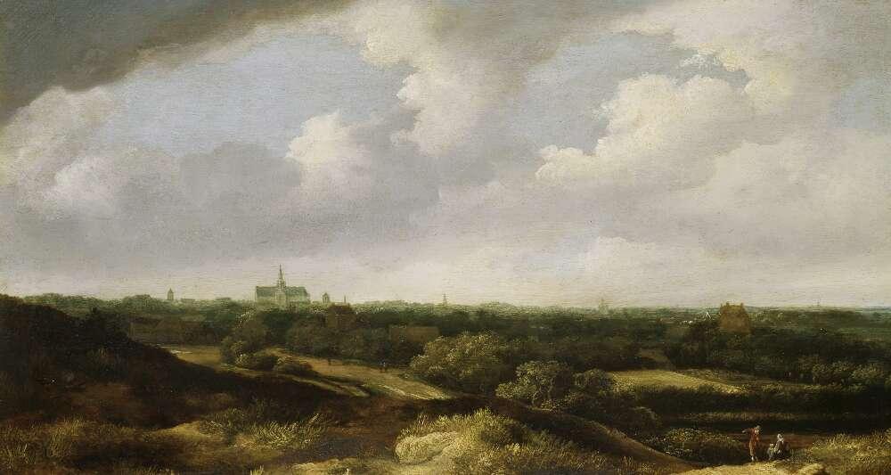 Jan Vermeer van Haarlem der Ältere, Blick auf Haarlem von Süden, Öl auf Eichenholz (Wallraf-Richartz-Museum & Fondation Corboud)