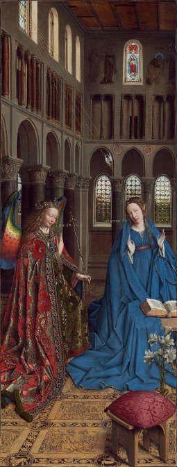 Jan van Eyck, Die Verkündigung, um 1434-1436 (National Gallery of Art, Andrew W. Mellon Collection, Washington DC)