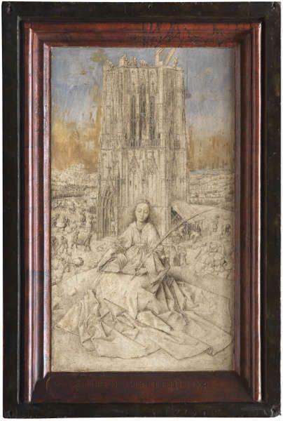Jan van Eyck, Hl. Barbara, 1437 (Königliches Museum der Schönen Künste [Koninklijk Museum voor Schone Kunsten], Antwerpen)