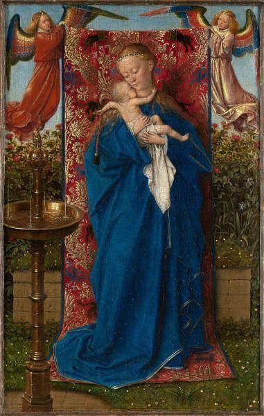 Jan van Eyck, Madonna am Springbrunnen, 1439, 19 x 12 cm (© KMSKA – Lukas-Art in Flanders vzw, foto Hugo Maertens)