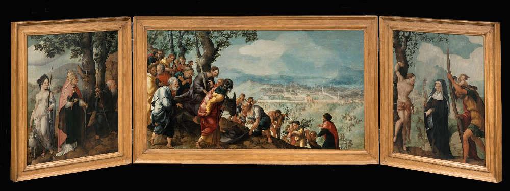 Jan van Scorel, Der Einzug Christi nach Jerusalem (Lokhorst Altar), 1526/27, Öl auf Holz (Centraal Museum, Utrecht)