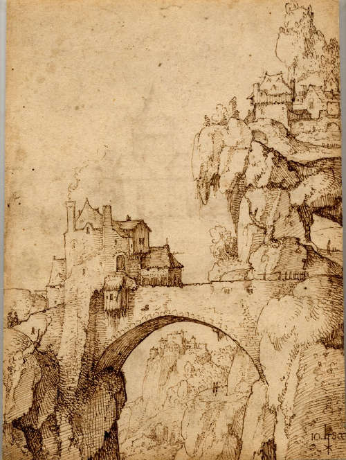 Jan van Scorel, Landschaft, um 1519, 20.5 × 15.3 cm (British Museum, London, Inv.-Nr. 1909,0109.7)