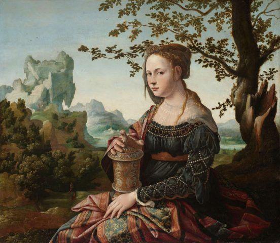 Jan van Scorel, Maria Magdalena, um 1530, Öl auf Holz, 66.3 × 76 cm (Rijksmuseum, Amsterdam)