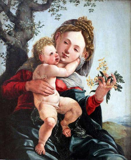 Jan van Scorel, Maria mit Kind, 1528, Öl auf Holz (Gemäldegalerie, Staatliche Museen zu Berlin)