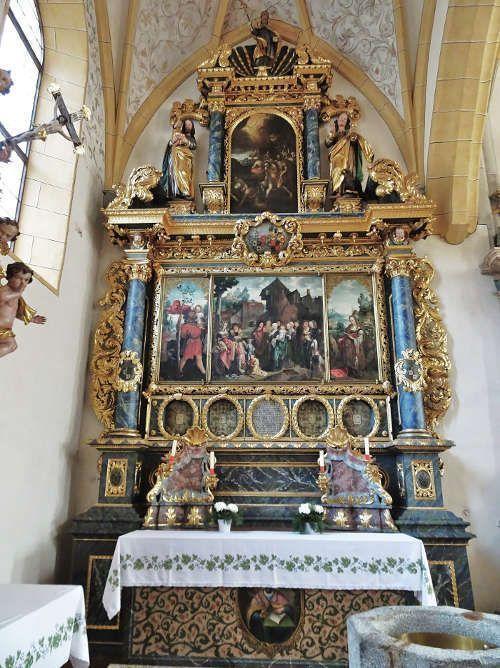 Jan van Scorel, Frangipani-Altar, 1519 datiert (Pfarrkirche Obervellach, Foto: © Gemeinde Obervellach)