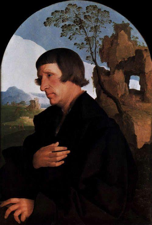 Jan van Scorel, Porträt eines Mannes, um 1535, Öl auf Holz, 65 × 44 cm (Gemäldegalerie, Staatliche Museen zu Berlin)