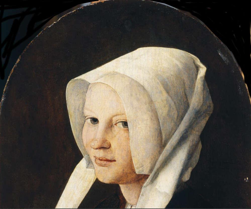 Jan van Scorel, Porträt von Agatha van Schoonhoven, 1529, Öl auf Holz, 38.3 x 27.1 cm (Galleria Doria Pamphilij, Rom)