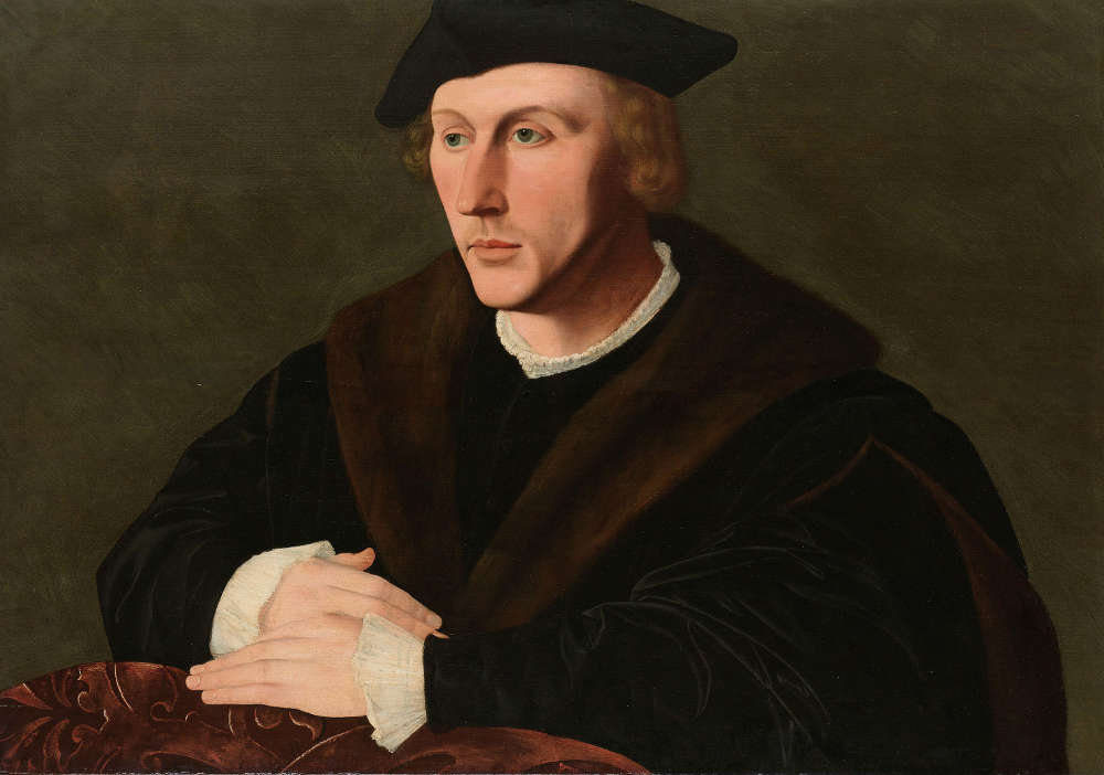 Jan van Scorel, Porträt von Joris van Egmond, um 1535–1540, auf Holz, 57.2 × 80.8 cm (Rijksmuseum, Amsterdam)