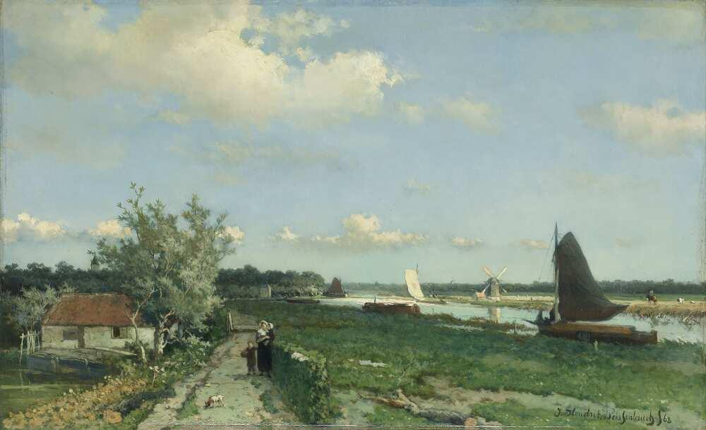 Jan Hendrik Weissenbruch, Blick auf den Trekvliet-Kanal bei Den Haag, 1868, Öl auf Leinwand, 31 x 50 cm (Rijksmuseum, Amsterdam)