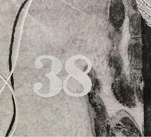 Jasper Johns, The 100 Monotypes Nr.38, Detail, 2015, Monotypie © Jasper Johns/VG Bild-Kunst, Bonn 2020, Foto: Porter Gillespie