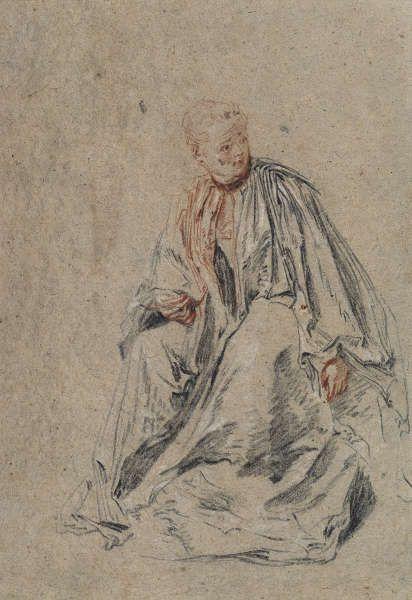 "Jean Antoine Watteau, Sitzende junge Frau (""Briefleserin""), um 1715/1716, © Kupferstichkabinett – Staatliche Museen zu Berlin / Jörg P. Anders"