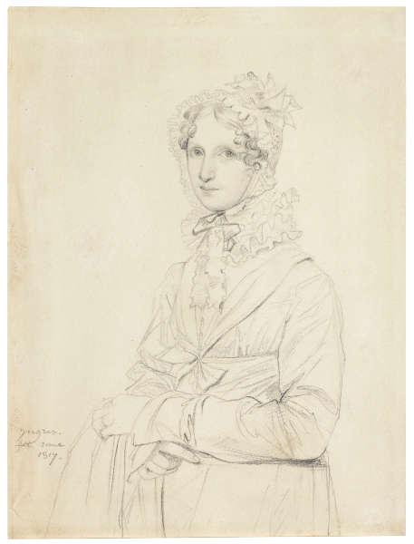 Jean-Auguste-Dominique Ingres, Louise Sophia Enrietta Catharina Ritter (Fräulein Ritter), Rom 1817, Bleistift und Rötel, 22.2 x 16.7 cm (Privatsammlung)