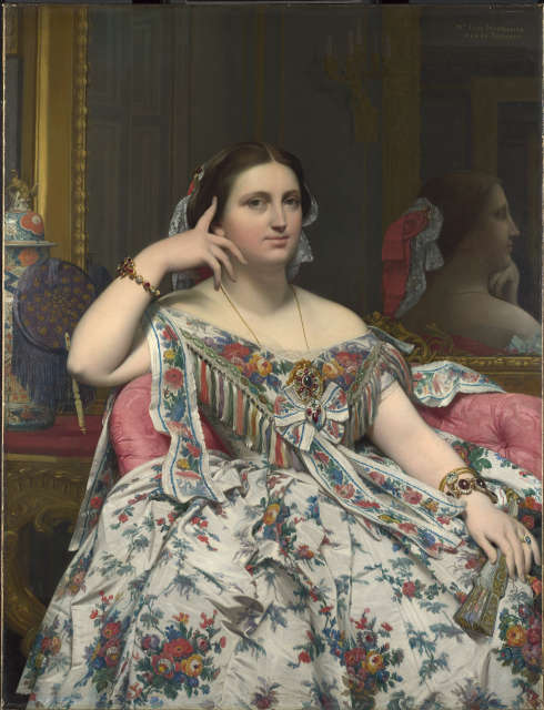 Jean-Auguste-Dominique Ingres, Madame Moitessier, 1856 (The National Gallery, London. Bought, 1936. © The National Gallery, London)