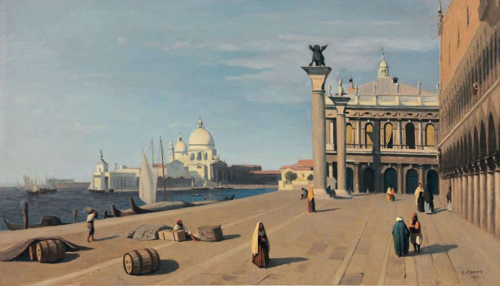 Jean-Baptiste Corot, Ansicht von Venedig (Privatsammlung)