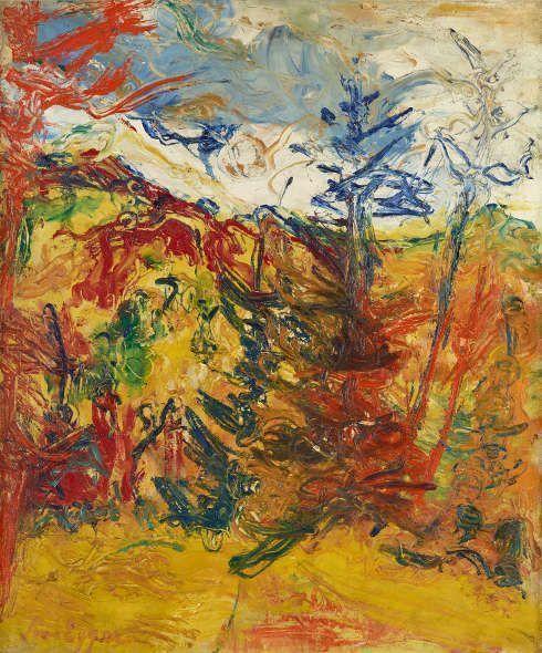 Jean Egger, Landschaft, 1930, Öl-Lw, 65 x 54,5 cm (Belvedere, Wien)