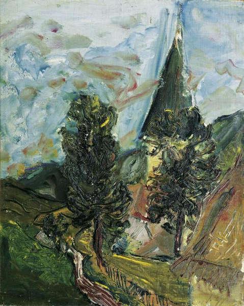 Jean Egger, St. Martin am Silberberg, 1929, Öl-Lw, 79 x 63 cm (Belvedere, Wien)