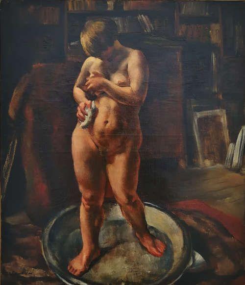 Jean Fautrier, Andrée Piersan à sa toilette, 1925, Öl/Lw (Privatsammlung, courtesy Galerie de le Prèsidence, Paris)