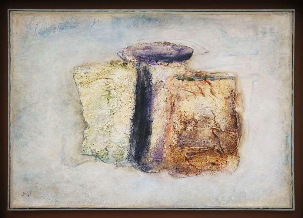 Jean Fautrier, Les bobines, 1947, Öl/Papier/Lw (Privatsammlung)