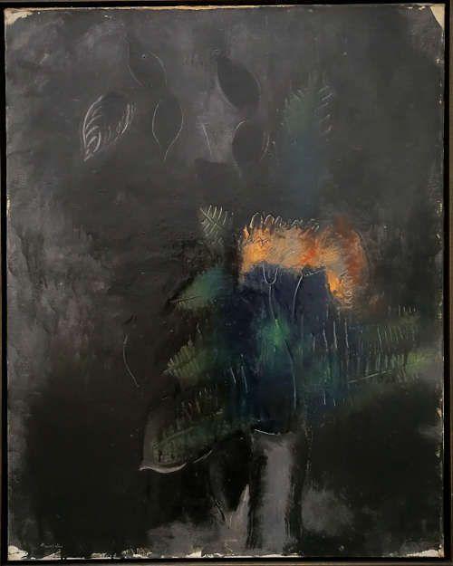 Jean Fautrier, Les fleurs noires ou Les chardons noirs, 1926, Öl/Lw (Privatsammlung)