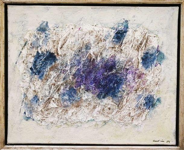 Jean Fautrier, Tourbes, 1959, Öl/Papier/Lw (Sammlung Ingrid und Werner Welle, Paderborn)