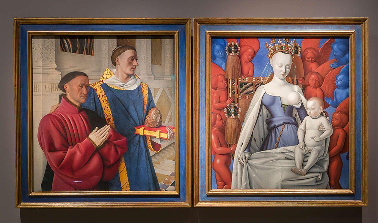 Jean Fouquet. Das Diptychon von Melun, Ausstellungsansicht, © Staatliche Museen zu Berlin, David von Becker