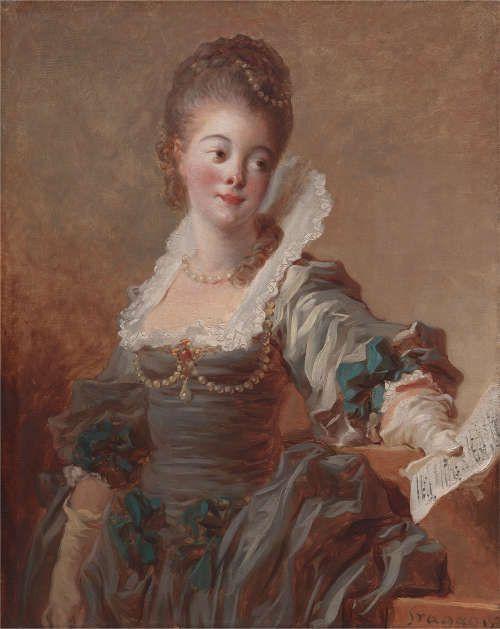 Jean Honoré Fragonard, Die Sängerin, um 1769, Öl auf Leinwand, 81 x 65 cm (Privatsammlung)