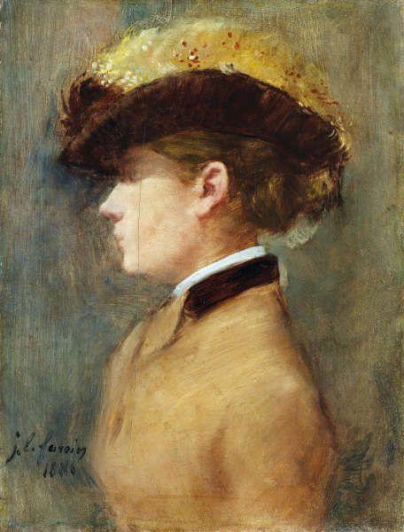 Jean-Louis Forain, Dame im Profil, 1881, Öl/Holz, 35,2 × 26,9 cm (www.lostart.de/DE/Fund/478437 Legat Cornelius Gurlitt 2014 / Provenienz in Abklärung)