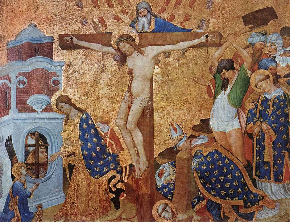 Jean Malouel, Kreuzigung und Martyrium des hl Dionysius, um 1416 (Musée du Louvre, Paris)