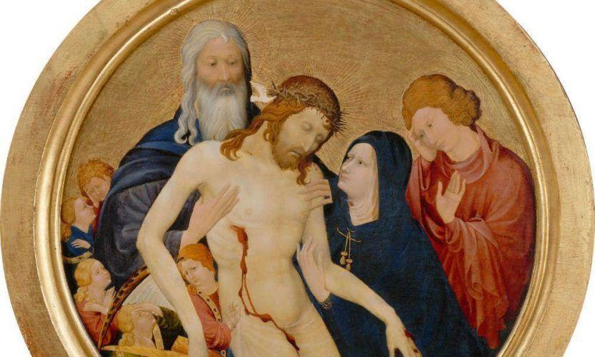 Jean Malouel, La Grande Pietà ronde, Detail, um 1400 (© 2009 Musée du Louvre / Erich Lessing)