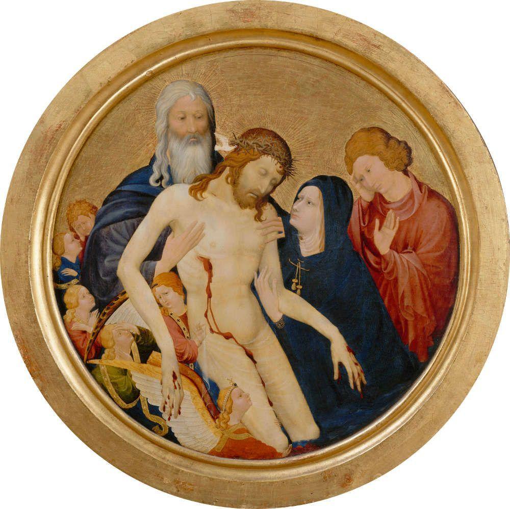 Jean Malouel, La Grande Pietà ronde, um 1400 (© 2009 Musée du Louvre / Erich Lessing)
