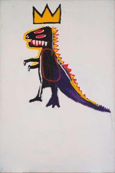 Jean-Michel Basquiat, Pez Dispenser, 1984, Acryl und Ölkreide/Lw, 183 x 122 cm (Privatsammlung Courtesy Galerie Enrico Navarra © Estate of Jean-Michel Basquiat. Licensed by Artestar, New York. Foto © Tutti-image. Bertrand Huet)